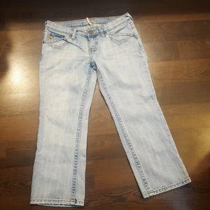 Miss Me cropped light denim jeans